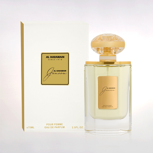 al haramain junoon spray for women eau de parfum box bottle