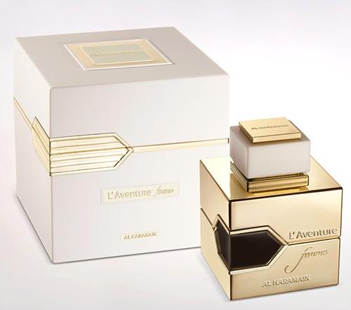 haramain l'aventure femme eau de parfum for women box & bottle