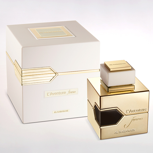 haramain l'aventure femme eau de parfum for women box & bottle