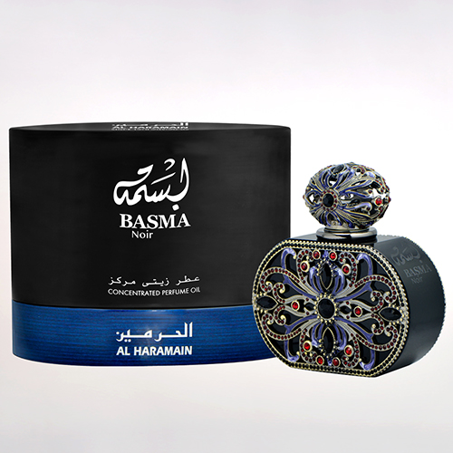 haramain basma noir concentrated oil perfume box bottle 20ml