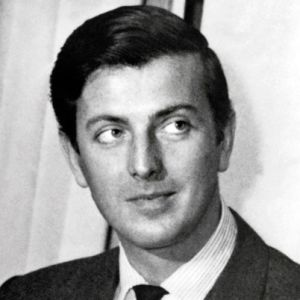 early photo of hubert de givenchy portrait headshot black and white