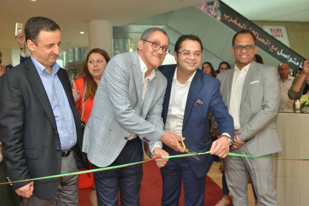 Emadur Rahman Deputy Managing Director and Shibu Cherian, General Manager, Al Haramain Perfumes Group at the official opening of Al Haramain Perfumes Morocco Mall showroom