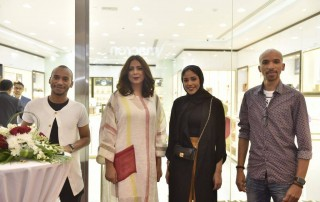saad al amiri, reem erhama, hanan redha at al haramain perfumes seef mall bahrain showroom launch on 4 May 2018