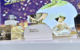 dazzle perfume, l'aventure femme, eau de parfum, prism classic, rawaa spray perfumes for men and women by al haramain all available at seef mall, bahrain showroom
