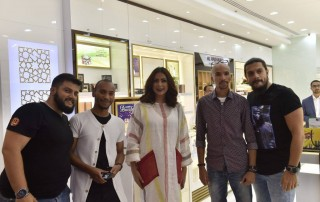 Saad Al Amiri, Reem Erhama, Media Personalities and fans at Al Haramain Perfumes Seef Mall Showroom Launch in Seef District, Manama