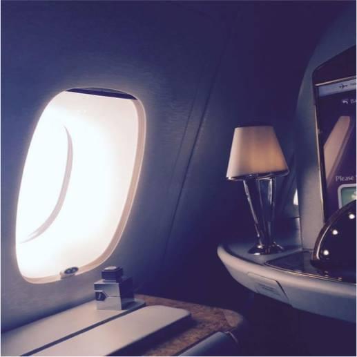 al haramain laventure aboard airbus a380 from dubai