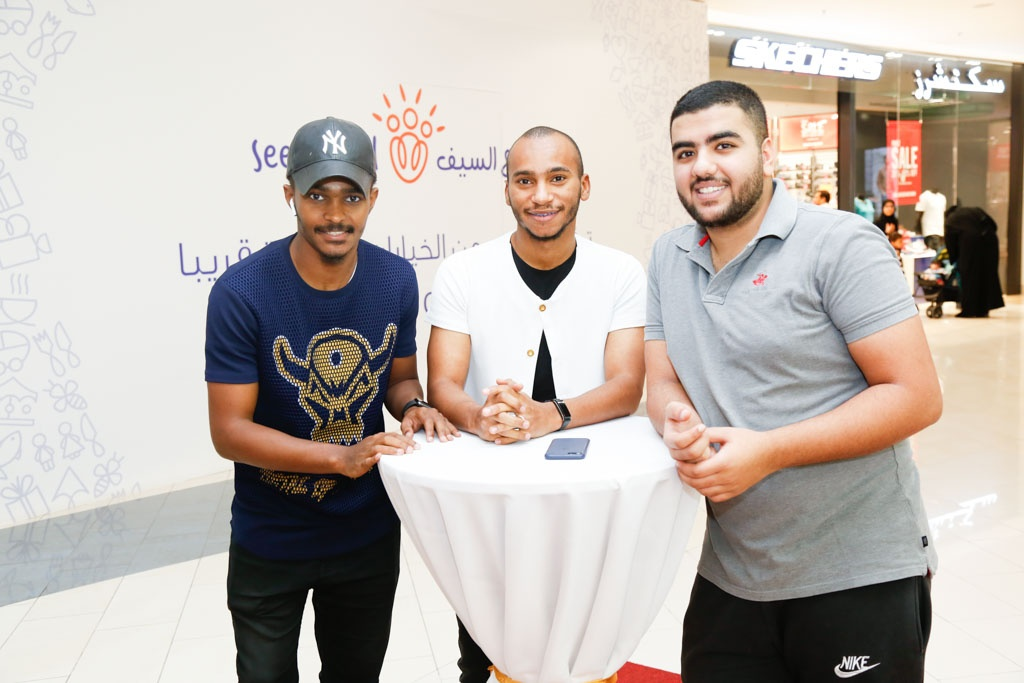 Al Haramain Perfumes Seef Mall Saad Al Amiri and fans