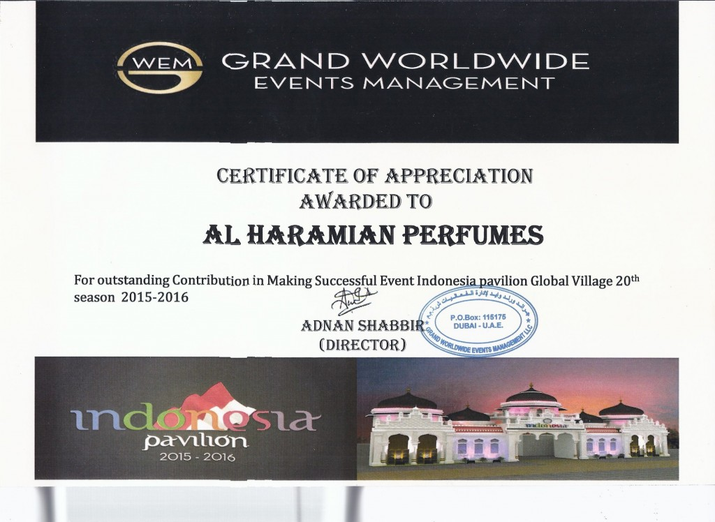al haramain perfumes global village 2015-2016